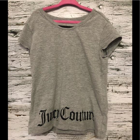 Juicy Couture tee with peekaboo collar size girl 8